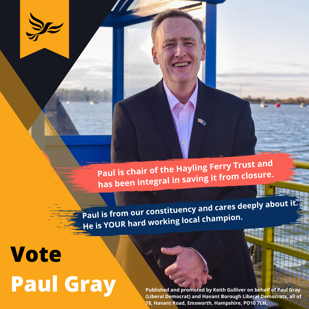 vote paul gray text